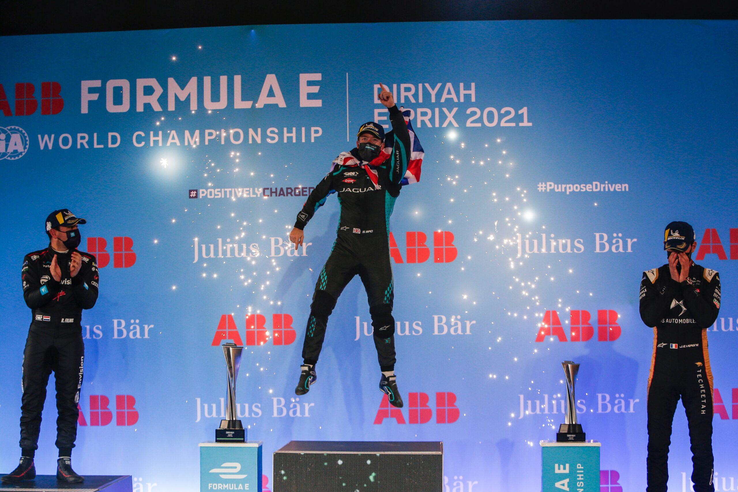 "Featured image for ""Formula E: Sam Bird wins red-flagged Diriyah E-Prix"""
