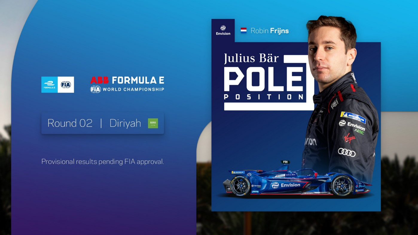 """Featured image for """"Formula E: Frijns seals pole whilst Mercedes-EQ and Venturi Racing remain in the garage"""""""
