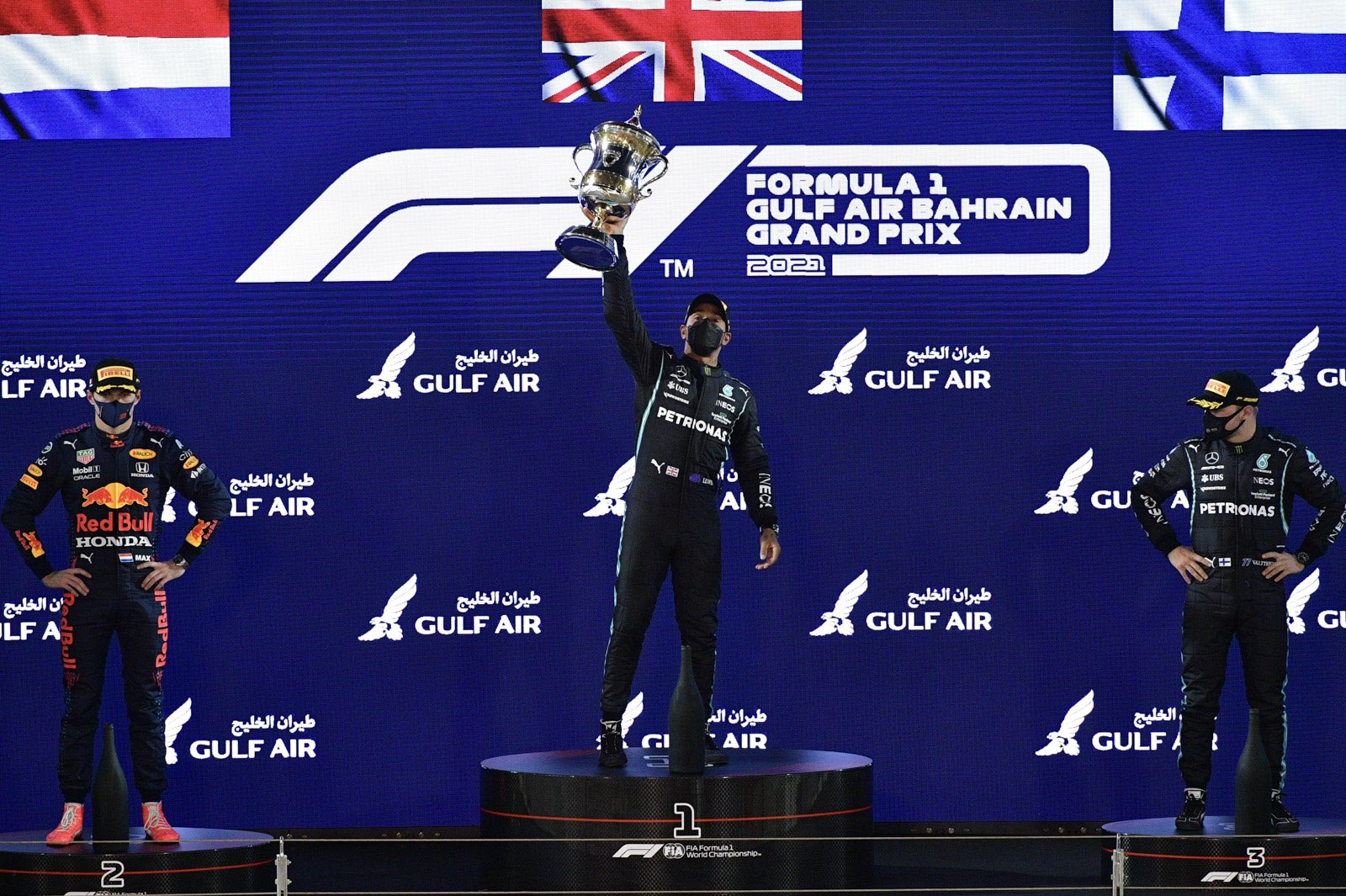 """Featured image for """"HAMILTON WINS IN BAHRAIN AFTER INTENSE BATTLE WITH VERSTAPPEN"""""""