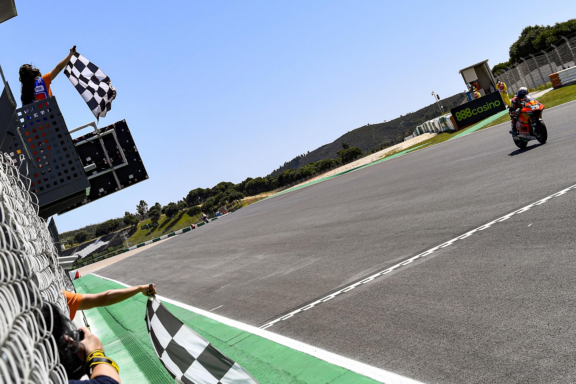 """Featured image for """"Moto 2: Raul Fernandez Takes Maiden Moto 2 Victory in Portimão"""""""