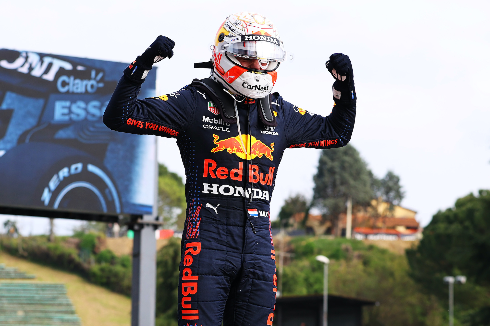 """Featured image for """"F1: Verstappen Holds off Hamilton's Early Charge to Claim Imola Win"""""""