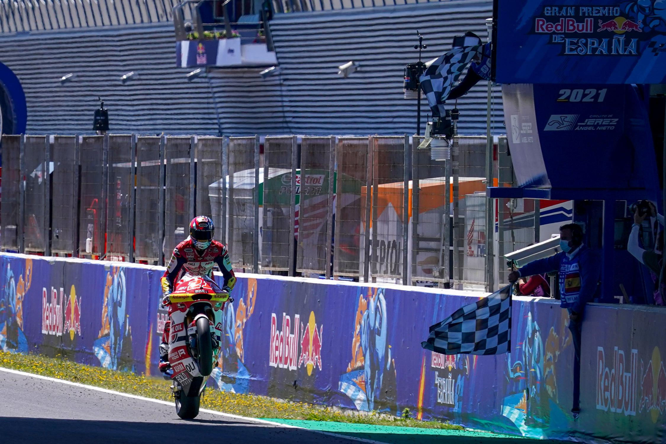 "Featured image for ""Moto2: Fabio Di Giannantonio Takes Maiden Moto 2 Victory in Style at Jerez"""