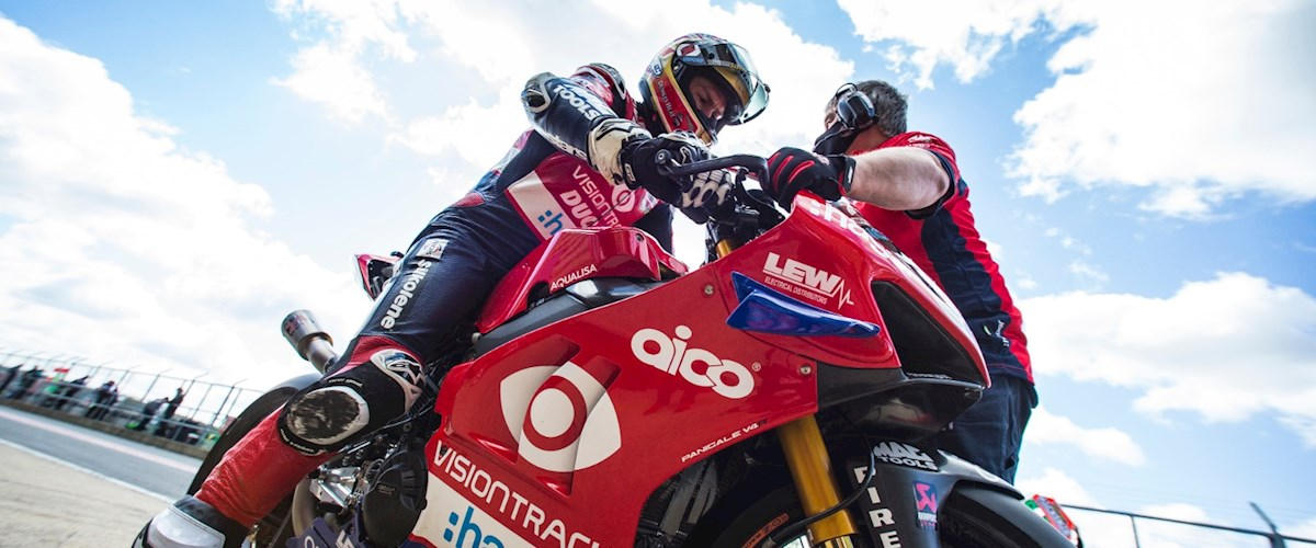 "Featured image for ""BSB: VisionTrack Ducati's Christian Iddon Leads The Way At Snetterton On Day Two Of The Bennetts British Superbike Testing."""