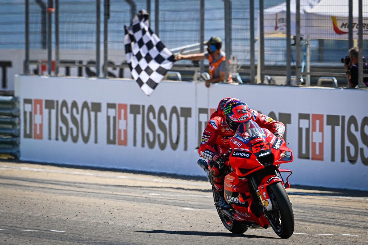 "Featured image for ""MOTOGP: Poleman Pecco Fends off Marc Marquez in a last lap Thriller"""
